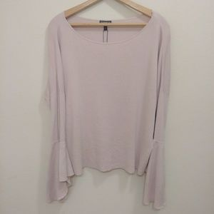 NWT Express blush pink bell sleeve sweater